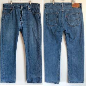 Levi's Men's 501 Original Button Fly Jeans 36 x 30